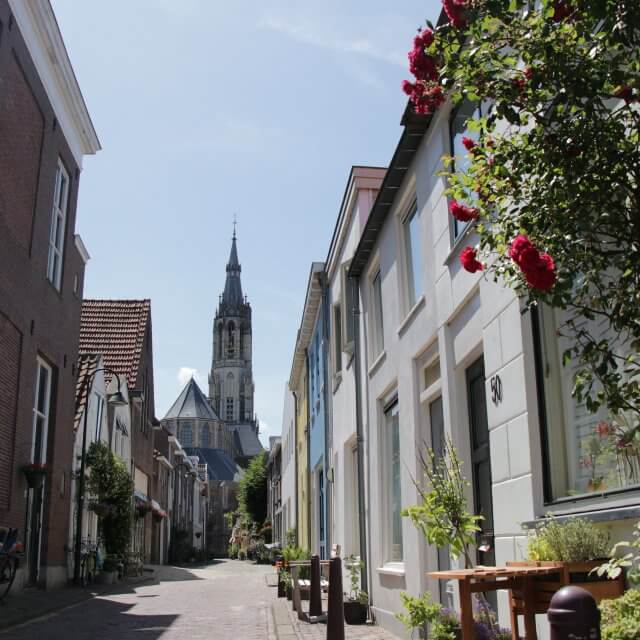 De trompetstraat in Delft