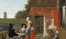 Pieter de Hooch (1629- in of na 1679), Hollandse binnenplaats, ca. 1658-1660, Courtesy National Gallery of Art, Washington, Andrew W. Mellon Collection, 1937.1.56